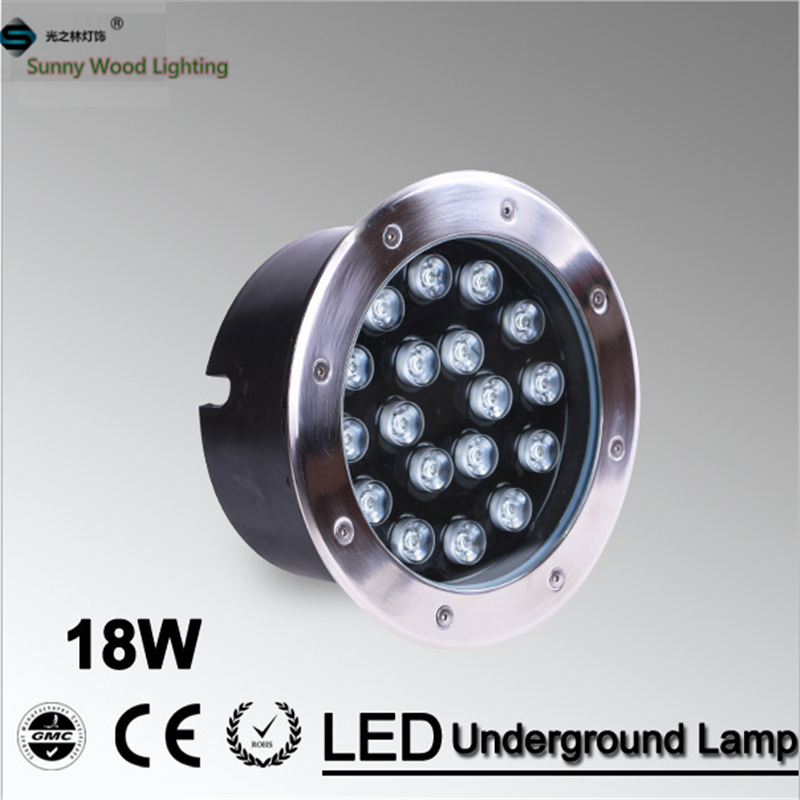 Free shipping LED underground lamp 18W inground light ,IP68 embedded light AC24V  LUL-A-18W  led pool light ,18W underwater lamp free shipping ip68 10w 20w 30w 50w led cob underground light cob inground light diameter 250mm ac85 265v led outdoor lamp