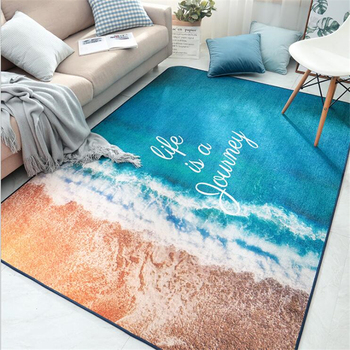 2019 New Soft Carpets For Living Room Bedroom Kid Room Rugs Home Carpet Floor Door Mat Sea Delicate Area Rugs Beautiful Nordic