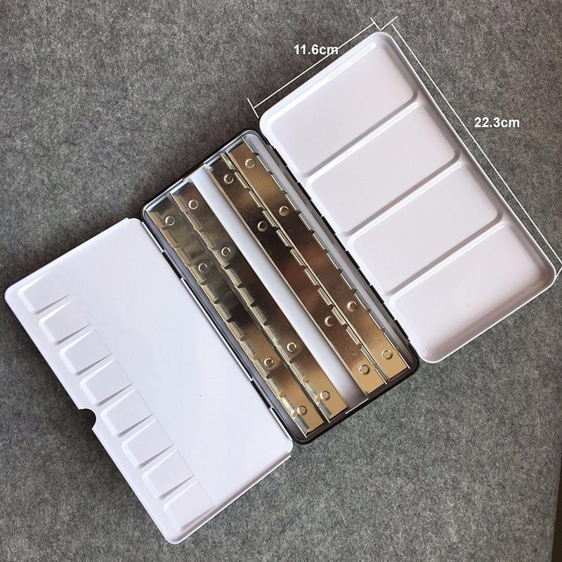 1 Pc Portable Empty Watercolor Metal Case Box Storage Palettes 12/24/48