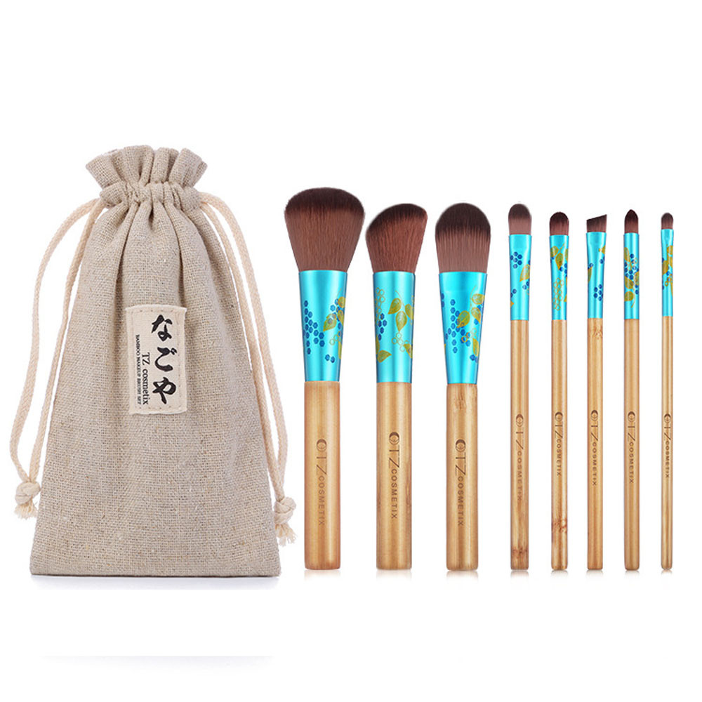 High Quality 8PCS Cosmetic Makeup Brush Brushes Set Foundation Wood Handle Powder Eyeshadow For Women Girl To Choose 1000g 98% fish collagen powder high purity for functional food