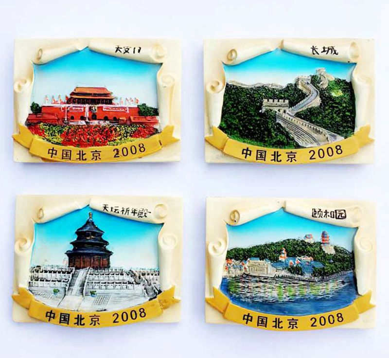 China T 3D Resin Fridge Magnets Tourist Souvenirs Refrigerator Magnetic Stickers Home Decortion