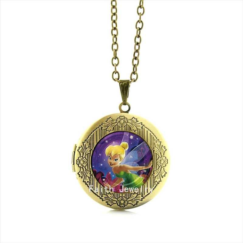 Collier Collares Maxi Colar Fashion Case Para Tinkerbell Colar Medalhão Banhado Jóias Para Crianças E Crianças Hh143