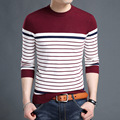 Men's Winter Autumn Large Size Wool Striped Knitted Christmas Sweater Pullover Jumper Jersey Hombre Warm Slim Fit Clothes XXXXL