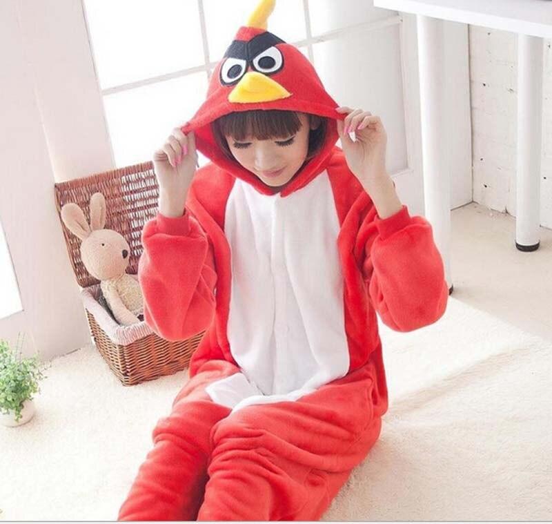 Fashion Style Flannel Animal LOVELY Pajamas One Piece Cartoon Sleepwear Unisex For Adult Animal Onsies