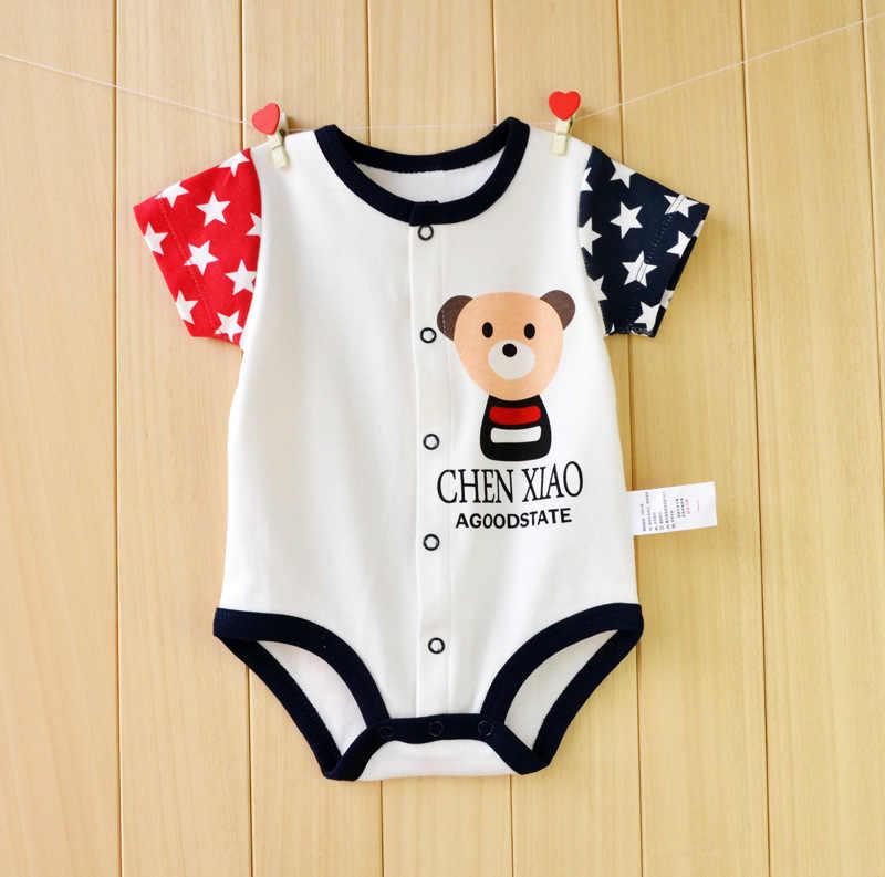 Для маленьких девочек Комбинезоны для малышек Летняя одежда для малышей Наборы для ухода за кожей хлопок короткий рукав детские халаты новорожденных Восхождение костюм Одежда для маленьких мальчиков