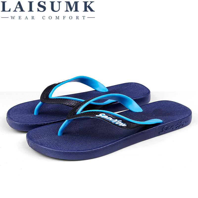 2019 LAISUMK Cool Punk Skull Zombie Design Men 39 s Flip Flops Fashion Summer Beach Water Rubber Slippers Male Flats Sandals Shoes in Flip Flops from Shoes