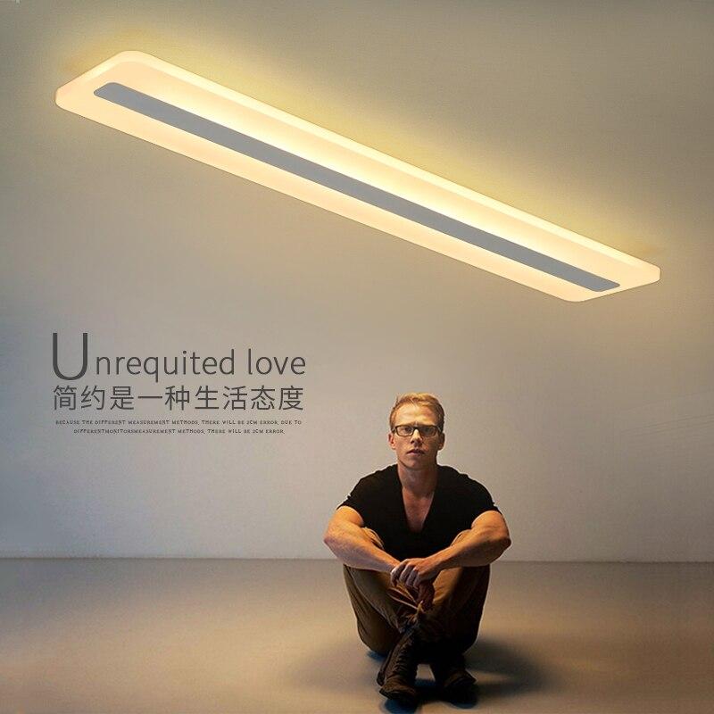 Moderne Minimalismus Hohe helligkeit LED decke lichter rechteckigen schlafzimmer Wohnzimmer aisl Decke lampe beleuchtung lamparas de techo