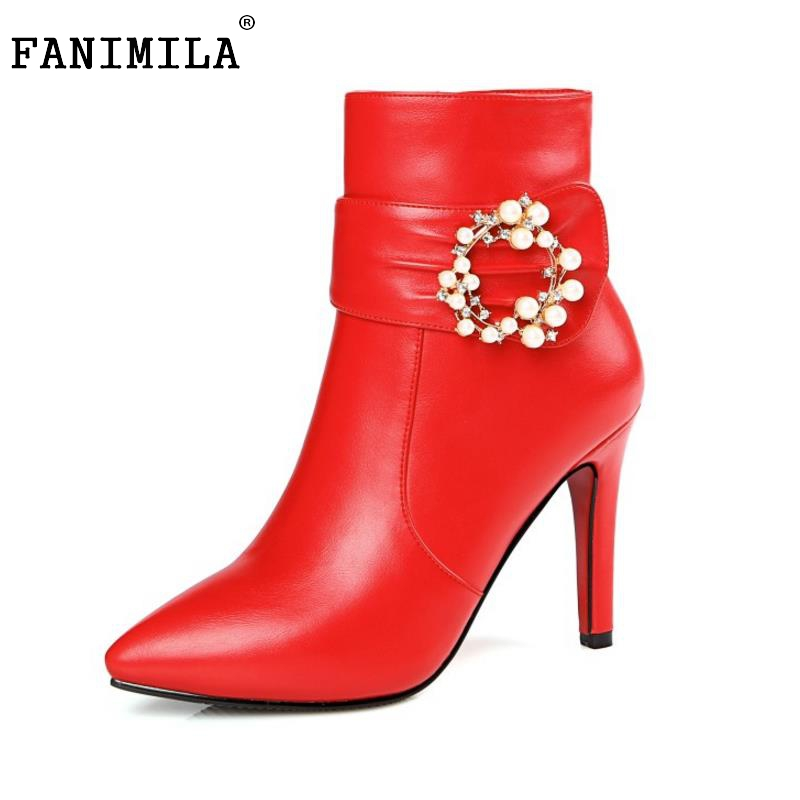 Ladies Pointed Toe Thin High Heel Ankle Boots Women Brand New Short Botas Fashion Woman Zipper Wedding Shoes Footwear Size 33-43 цены онлайн