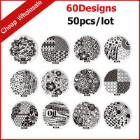 50pcs New Fashion Designs Steel Plate Nail Art Image Polish Stamp Stamping Template Manicure DIY Tools