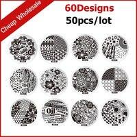 50 stks Nieuwe Mode Ontwerpen Stalen Plaat Nail Art Afbeelding Polish Stempel Stempelen Template Manicure DIY Gereedschap