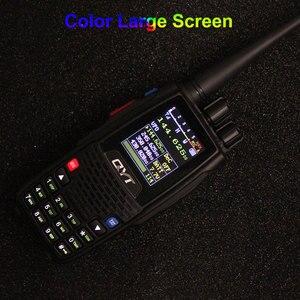 Image 5 - QYT Walkie Talkie KT 8R, 5W, 3200mAh, Quad Band, estación de Radio aficionado, intercomunicador KT8R, transceptor FM con pantalla a Color