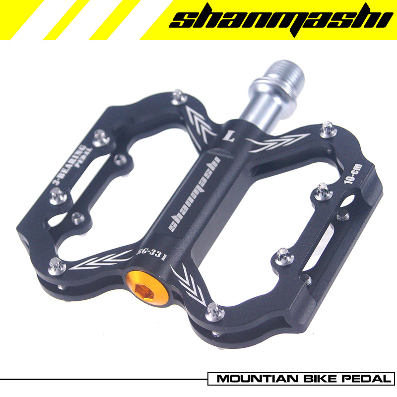 SMS Aluminum CNC Cycling Bicycle Pedals 3 Bearing Mountain Bike 9/16 Inch Platform 5 Colors BMX Flat Pedals MTB Accessories