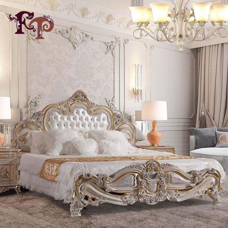 filiphs palladio Bedroom Furniture Europe Design modern leather queen size bed ,villa furniiture