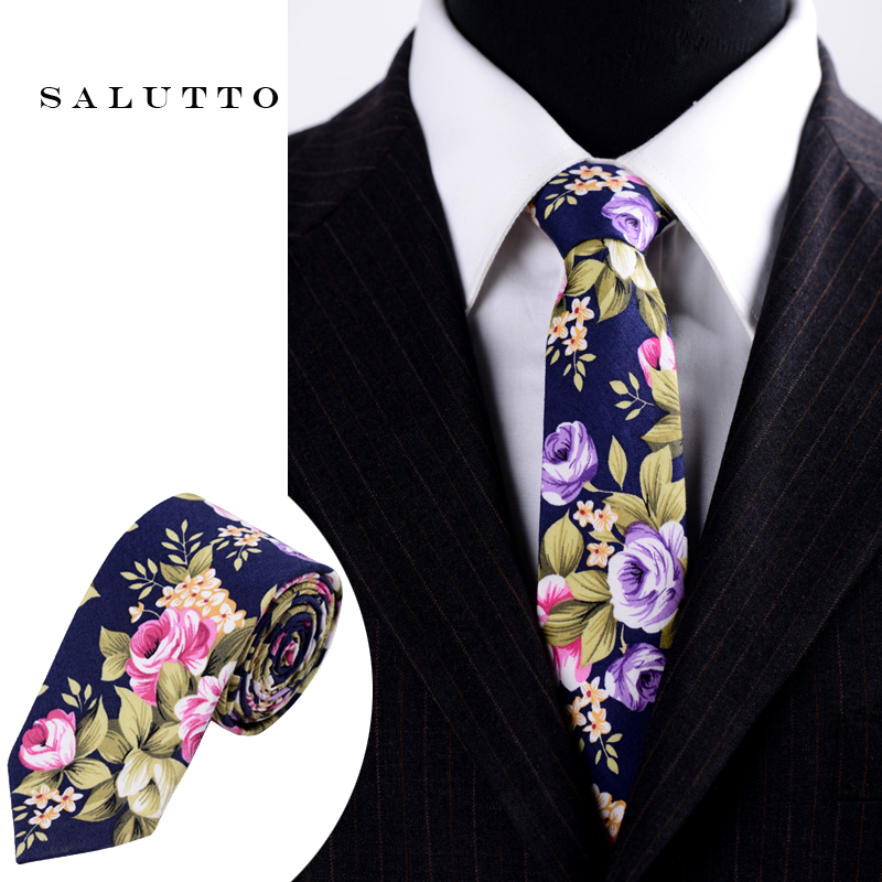 Men Necktie pocket square scarfs Wedding floral necktie High Quality Cotton