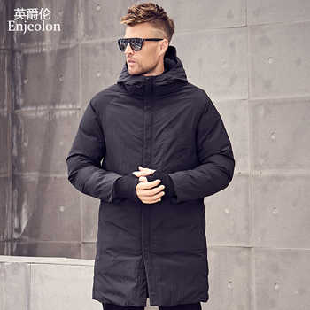 Enjeolon Brand Winter Cotton Padded Hooded Long Jacket Men Thick Hoodies Parka Coat Male Quilted Jacket Coat MF0629 - DISCOUNT ITEM  49% OFF All Category