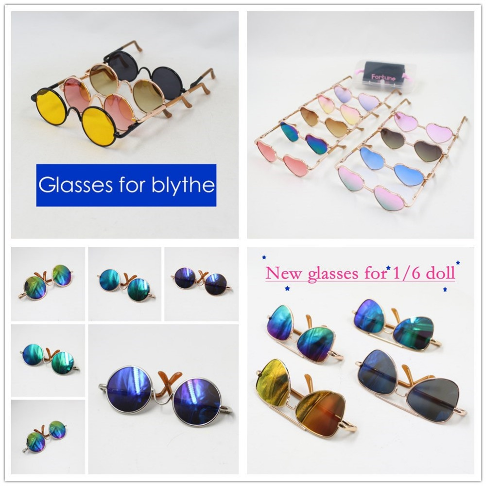 For blyth doll icy bjd neo glasses 1/6 30cm gift toy sunglasses 10pcs 100pcs 1 3 bjd doll accessories oval shaped oval glasses sunglasses suitable for dolls mini doll glasses with glasses box