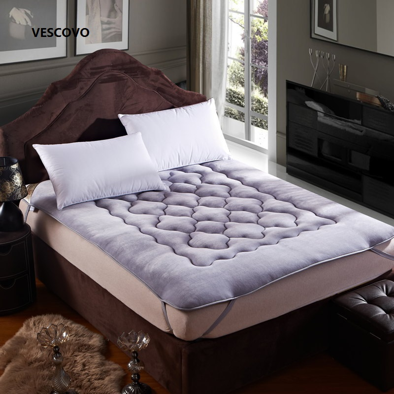The most comfortable Fine flannel warm mattress  king queen full twin size Free shipping smoby детская горка king size цвет красный