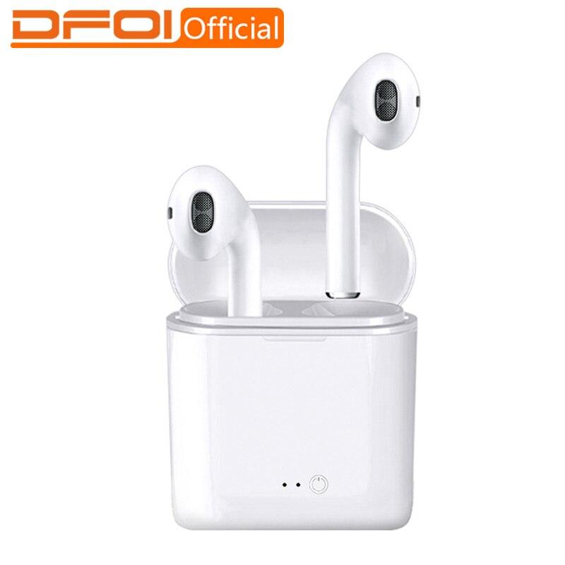 DFOI Drahtlose Kopfhörer Bluetooth Sport Kopfhörer Drahtlose Kopfhörer Headset Stereo Earbuds mit Mic für telefon xiaomi Air Schoten