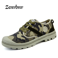 ZENVBNV Camouflage Unisex Canvas Breathable Shoes Slipony Men Casual Shoes Height Increase Male Comfort Footwear Plus
