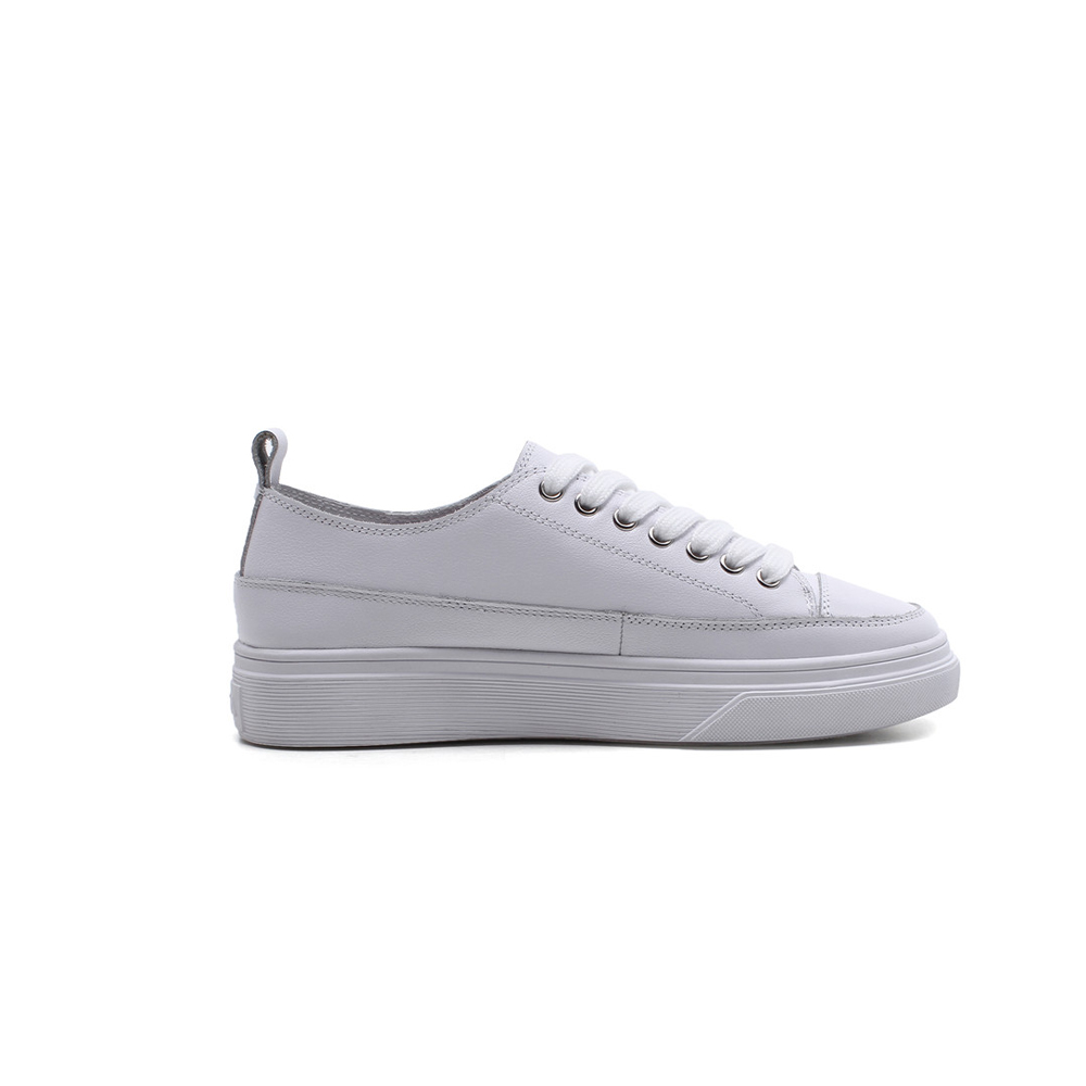 Appartements Zapatos Mocassins Style Plate forme Lacets Am14 Casual Cuir Muyisexi Chaussures White En Plein Véritable Blanc Collège apricot Mujer À Femmes Z48wc
