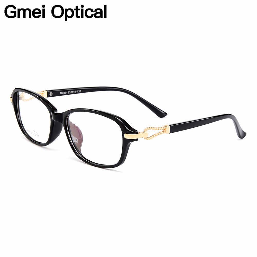 Gmei оптический стильный супер-легкий TR90 Овальный Для женщин полный обод оправы для очков для Для женщин Близорукость очки для дальнозоркости M039