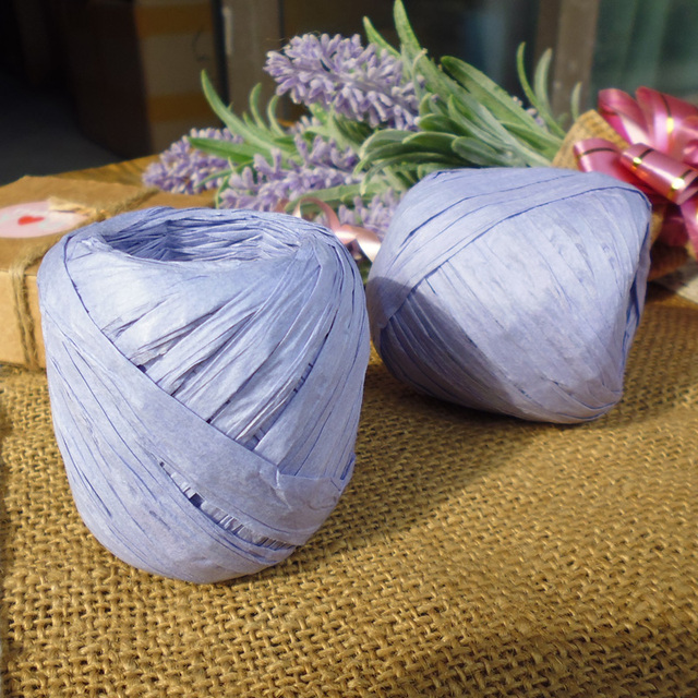 Violet Color Raffia Ribbon Cord Black Rope For Gift Wrap Party Decorations 20m Roll 11rolls Lot Free Shipping