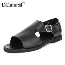 summer new mens sandals Genuine Leather Roman male British cowhide toe gladiator