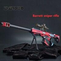 Zhenduo игрушка водный гель мяч пистолет Мягкие пули игрушечный пистолет Барретт Снайпер пистолет для мальчика на открытом воздухе хобби Бесп...