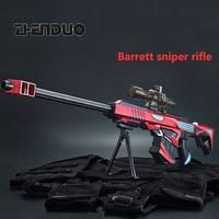 Zhenduo toy Water gel ball gun Soft bullets Toy Gun Barrett Sniper Submachine For Boy Outdoor Hobby Free Christmas Gift