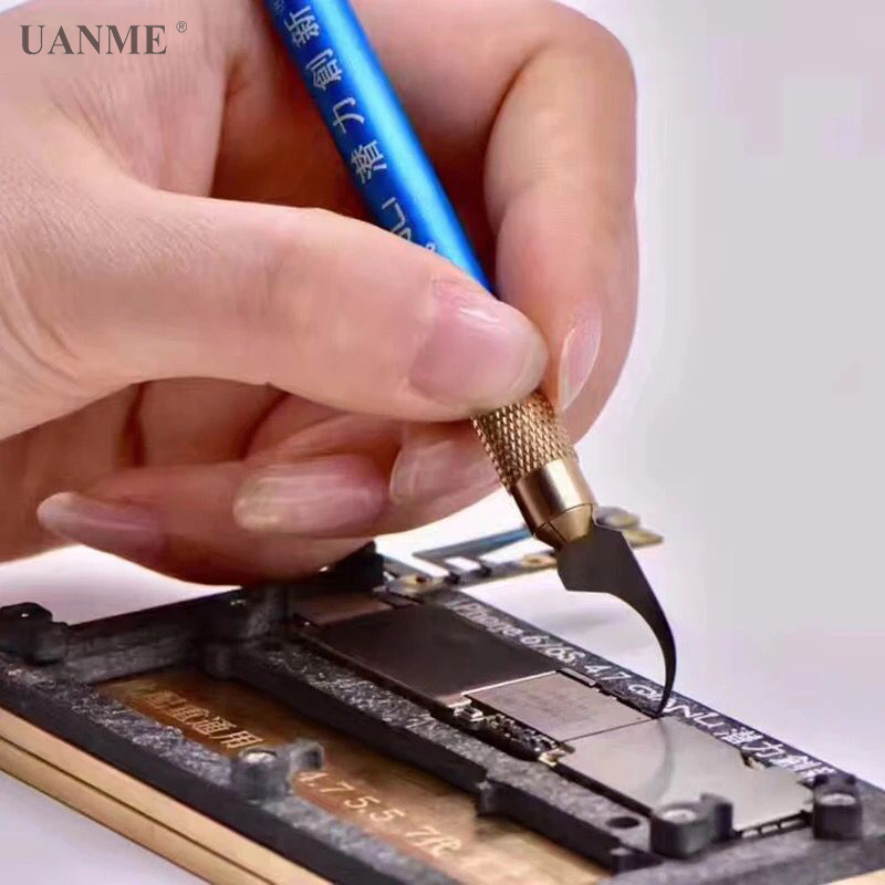 где купить UANME Repaired knife CPU A7 A8 A9 A10 motherboard Burin To Remove Phone Processors knifes For iPhone IC Chip Repair Thin Blade по лучшей цене