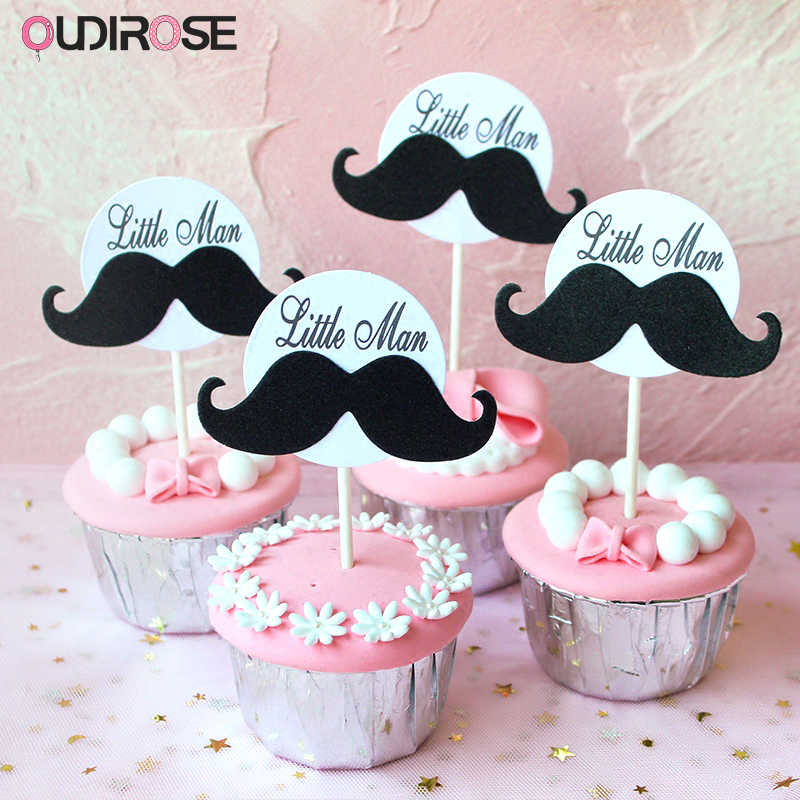 Creative Personality Men Beard Cake Topper Happy Birthday Humorous Funny Style Fathers Day Decoration