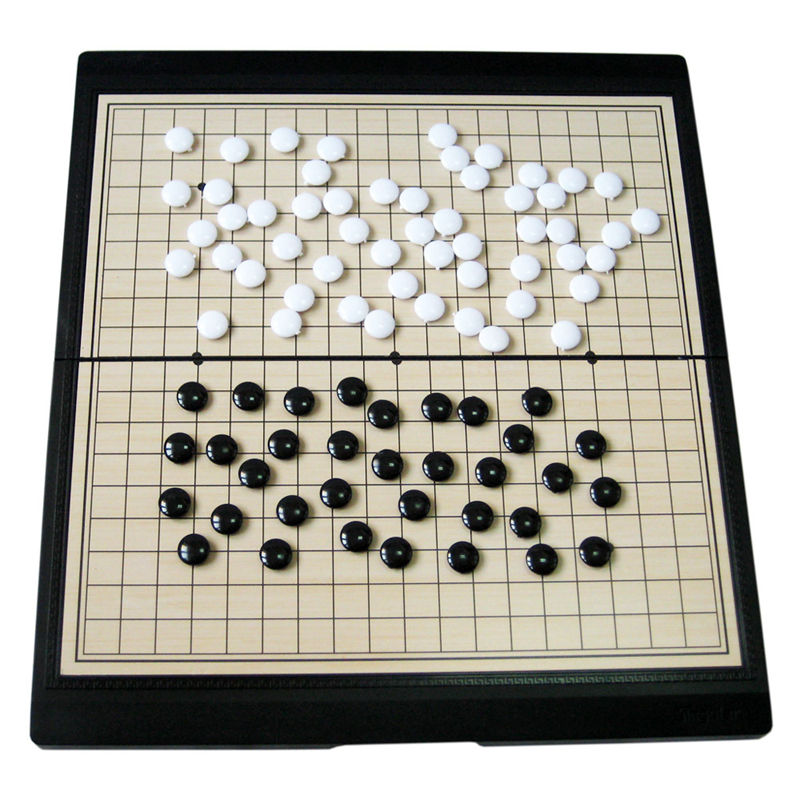 ФОТО High quality, large magnet game series Go folding chessboard classic chess puzzle game
