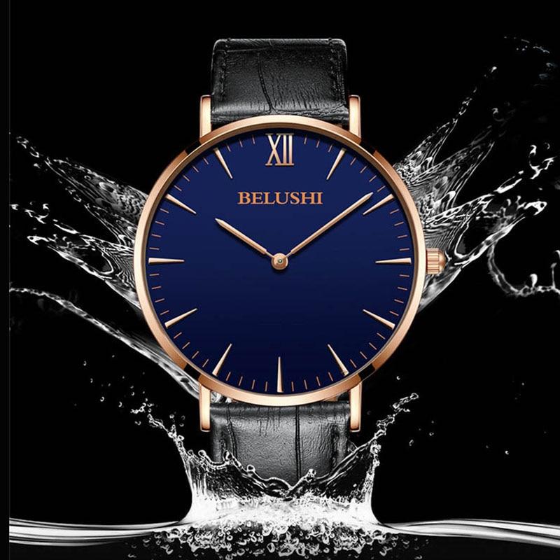 Top Brand Simple Ultra delgado Moda Masculino Reloj de Pulsera de - Relojes para hombres