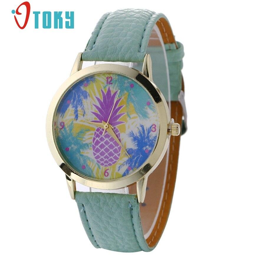 OTOKY Women Watch relogio feminino Fashion Pineapple Pattern Leather Band Analog Quartz Wristwatch Stylish 2017 #20 Gift