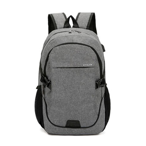 New Men's Casual Backpack Breathable Wear Rucksack Business Laptop Bag Solid Color Student Waterproof Backpack Travel Bags