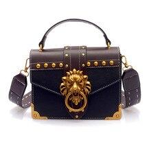 ccf0ae2072e3 2019 Lion Head Lock Crossbody Bags for Women Luxury Handbags Bags Designer Shoulder  Bag PU Leather