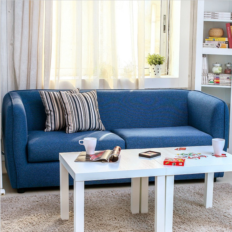 Scandinavian Minimalist Modern Blue Beanbag Style Living Room Sofa Combination Ikea Small Apartment Multiplayer In Office Sofas From Furniture On