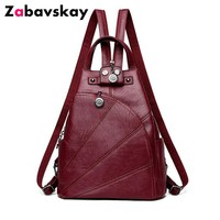 Fashion PU Leather Backpack Leisure Women Backpacks Women S Female School Shoulder Bags For Teenage Girls