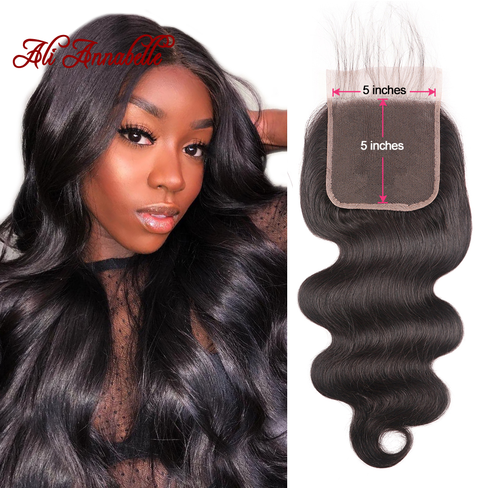 Peruvian Body Wave Lace Closure 5 5 Swiss Lace Middle Free Part Human Hair Lace Closure