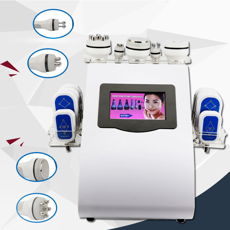 NEWEST !!! 40k Ultrasonic Liposuction Cavitation 8 Pads LLLT Lipo Laser Slimming Machine Vacuum RF Skin Care Salon Spa Equipment