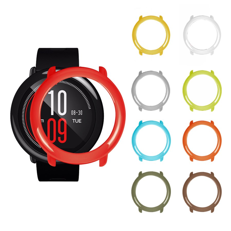 Slim PC Case Cover Protective Frame Shell for Xiaomi Huami Amazfit Pace Watch Colorful Replacement Watch Cases Cover Protector