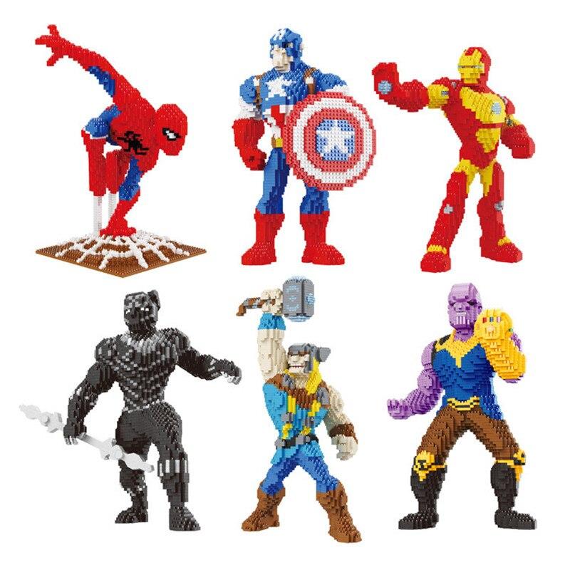 Marvel Avengers Fly Spider-Man Super Hero Diamond Mini Building Nano Blocks Toy