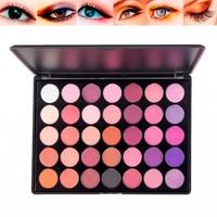 35 Colors Renaissance Mắt Bóng Trang Điểm Mỹ Phẩm Shimmer Matte Eyeshadow Palette F1106