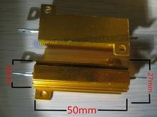 50 adet/grup 50 W Watt Güç Metal Kabuk Alüminyum Altın Direnç RX24 50 W 1R 2R 3R 4R 5R 6R 8R 10R 15R 50R 100R 220R 1 K OHM
