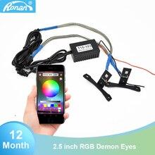 Auto Styling RGB APP Teufel Augen Dämon Evil Eye DRL LED Modul für Scheinwerfer Projektor Objektiv Rot Blau Gelb weiß Grün
