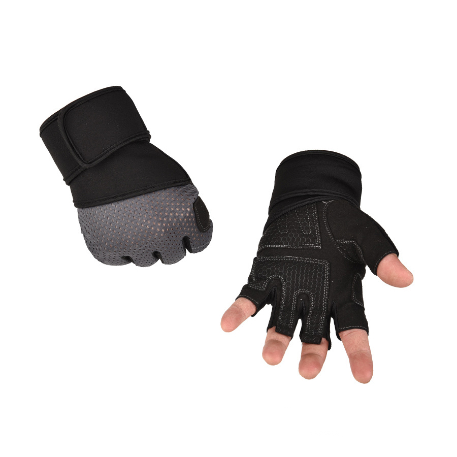 Half Finger Gym Gloves breathable Heavyweight Sports Exercise Weight Lifting Gloves Body Building Training Sport Fitness Gloves in Fitness Gloves from Sports Entertainment