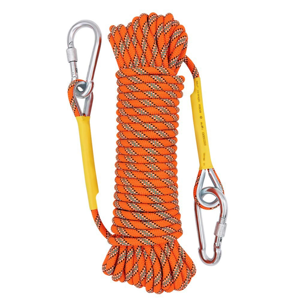 10.5mm Outdoor Climbing Rope 10-50m Rock Ice Climbing Equipment High Strength Survival Paracord Safety Rope Climbing Accessory