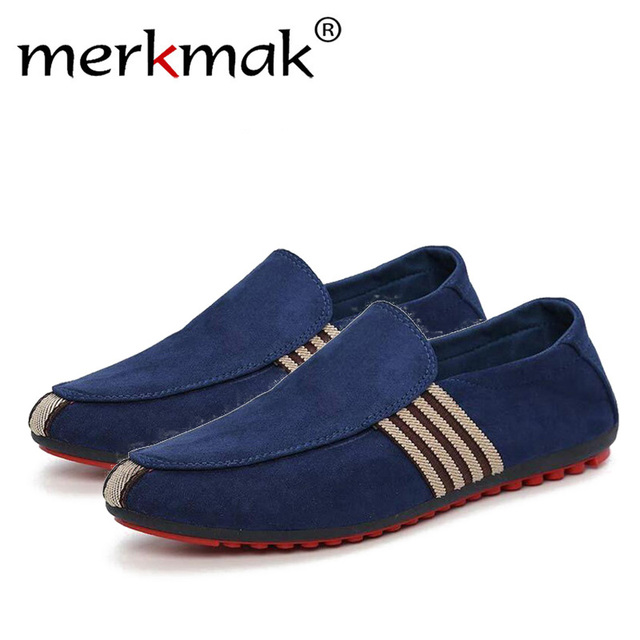 07ef382b823 2018 Man Shoes Walking Ventilation Casual Male Men sapato masculino Red  Bottom Canvas Slip Driving Moccasin Loafers Flat Shoes