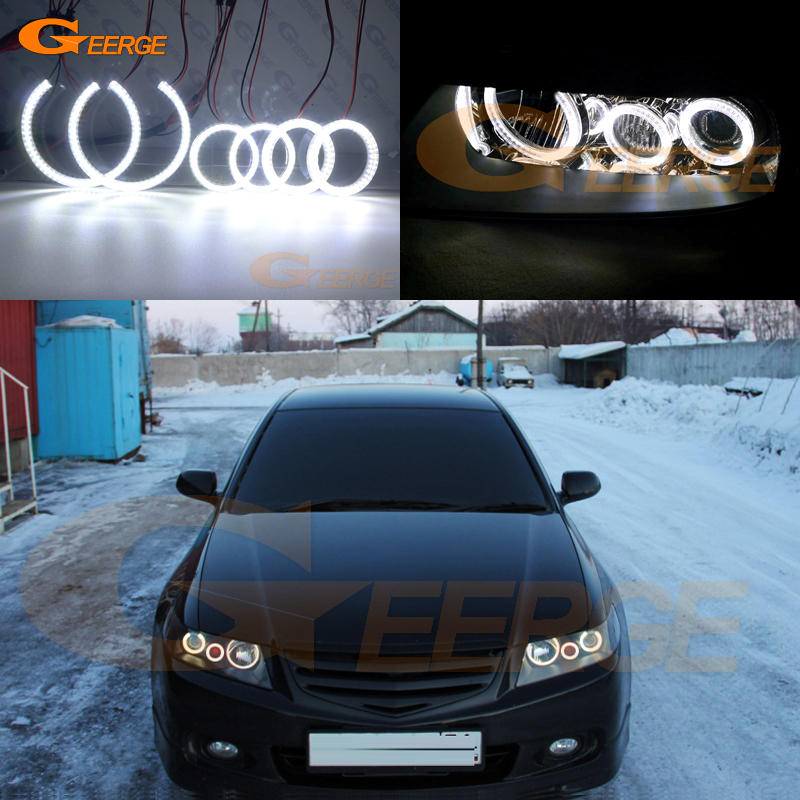 For Honda Accord CL7 CL9 CM2 2002 2003 2004 2005 2006 2007 Excellent 6 Pcs Angel Eyes Rings Super Bright SMD Led Angel Eyes Kit