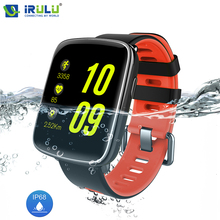 iRULU Sport Smart Watch Pedometer Heart Rate Monitor Smartwatch Fitness Tracker IP68 Waterproof Bluetooth For IOS Android Phone